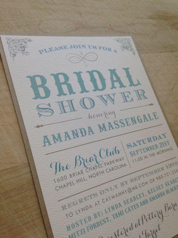 DIY Printable Bridal Shower Invitation // Simple by AMGDesignCo