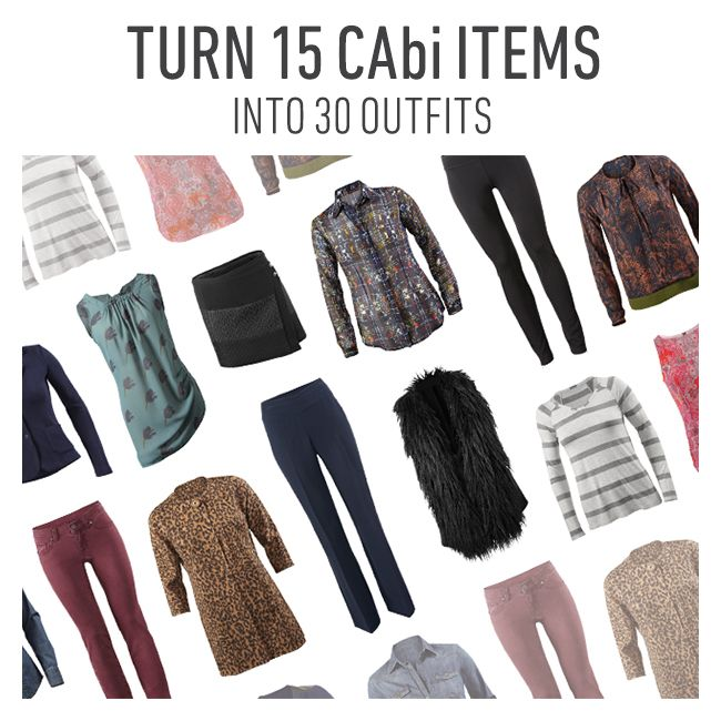 #CAbi - Your outfit inspiration for the month! Here are 30 days of style with 15 CAbi pieces! #cabiclothing #outfits