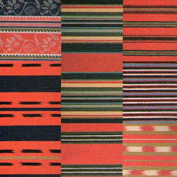 Fabrics of Finnish folk costumes.