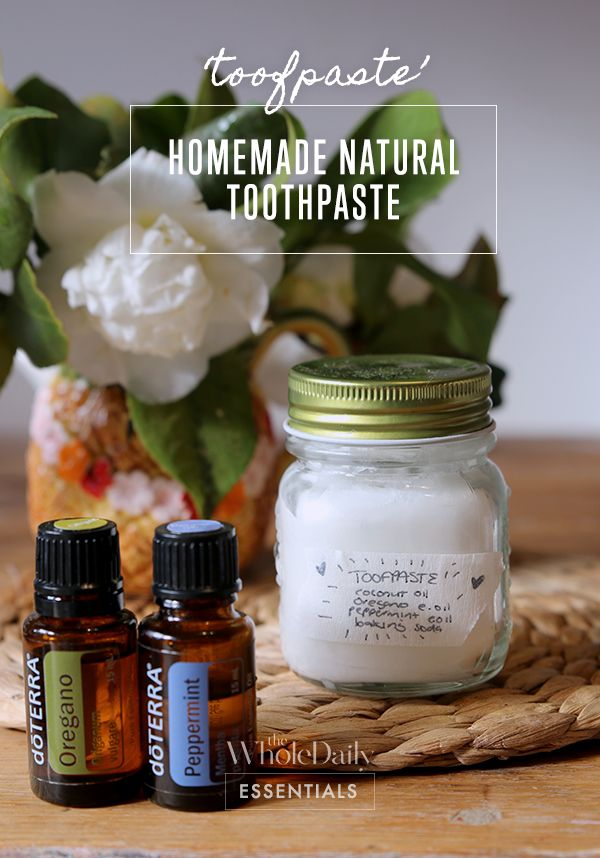 How to make your own home-made natural toothpaste. Complete recipe and information.