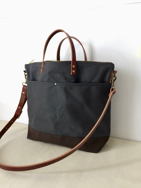 3332eb0916 Custom Bag  Utility Tote For Travel in Charcoal Grey - Modern Coup ...