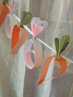 Bunny and Carrot Garland made of Stampin' Up! Paper / Easter Banner Spring Garden Rabbit Baby Shower