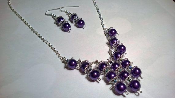 #Pearl #Necklace #Bridesmaid #JewelrySet  by @AnnasCJHM on #etsy #etsyshop #handmade #giftforher