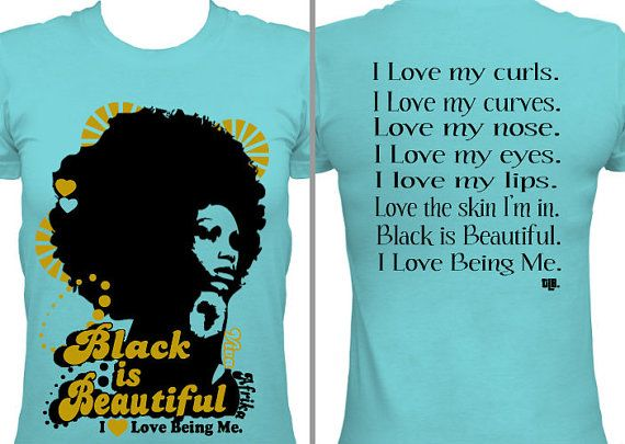 Black is Beautiful by ThreeLittleBirdsTees on Etsy, $19.95