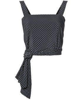 укороченная блузка с завязками на талии