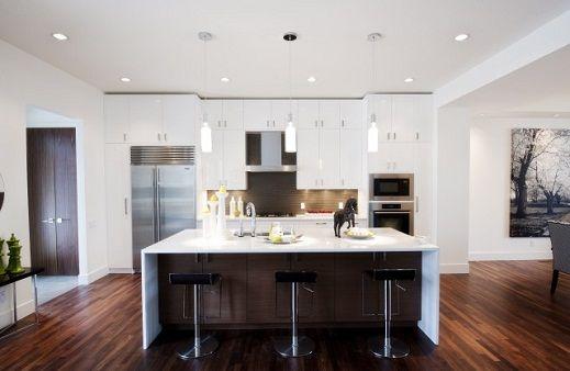 White Modern Kitchen Island
