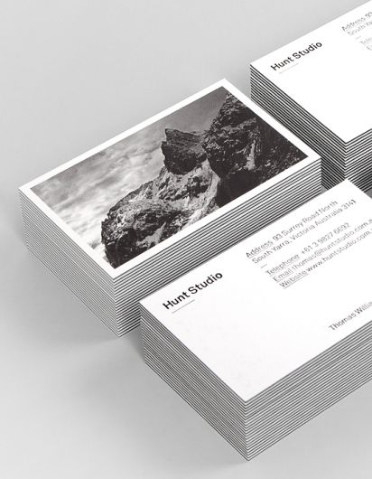 hunt studio business cards