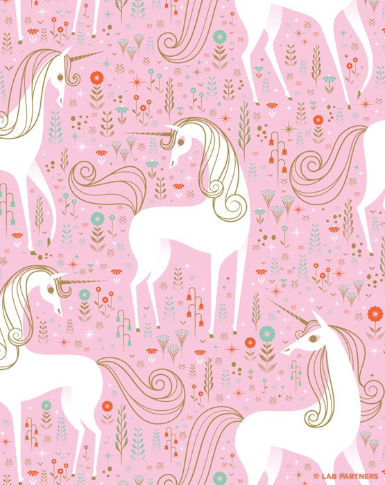 Unicorn wrapping paper for Nobrow designed & illustrated by Lab Partners