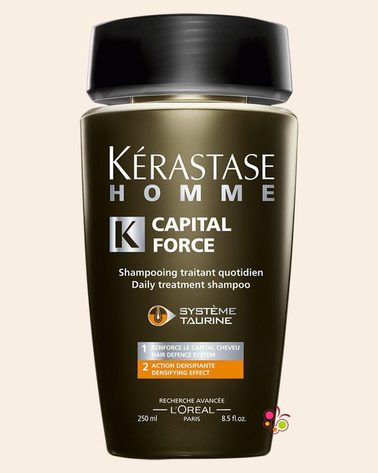 KERASTASE Homme Bain Capital Force Vita Energetique Erkekler İçin Enerji Veren Günlük Bakım Şampuanı 250 ml