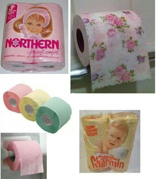 ***Used to see this stuff in friend's bathrooms. Our ma bought the white stuff (and still does)***.