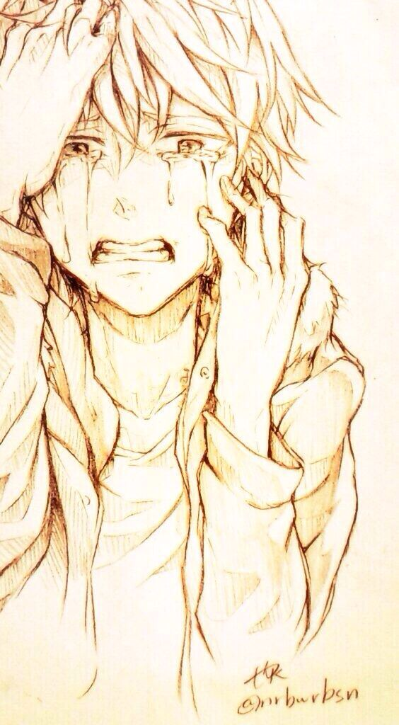 But amazingly done character inspiration pinterest anime boy crying graphite and kawaii