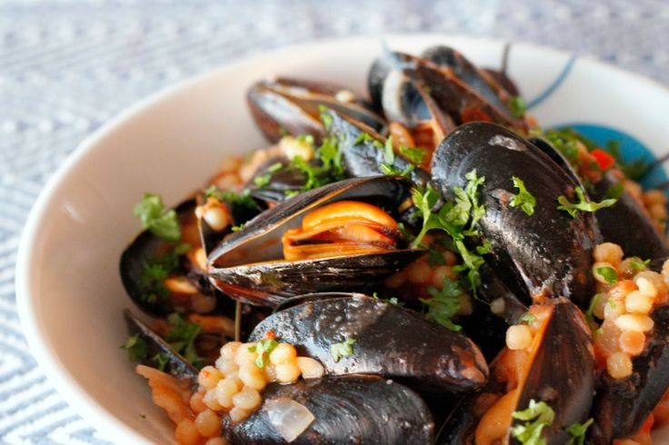 Blåskjell med fregola sarda / mussels with fregola sarda