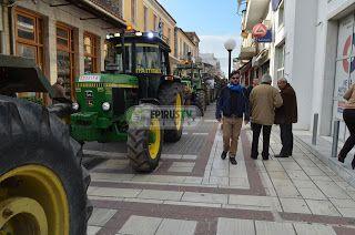 """Άρτα: Το μήνυμα των αγροτών απο την πατρίδα του Πρωθυπουργού:""""Μέχρι και τον οβελία ..στους δρόμους θα τον ψήσουμε""""[βίντεο-φωτορεπορτάζ]"""