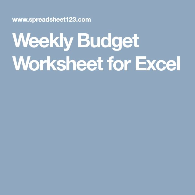 The 25+ best Weekly budget template ideas on Pinterest Weekly - sample weekly budget