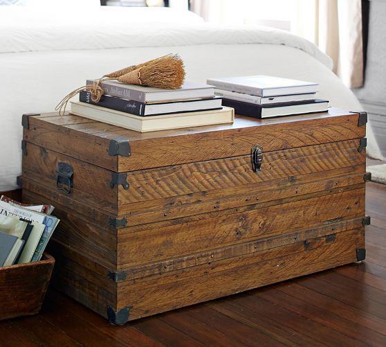 Mendell Reclaimed Wood Trunk | Pottery Barn - 25+ Best Ideas About Wood Trunk On Pinterest Wood Mirror