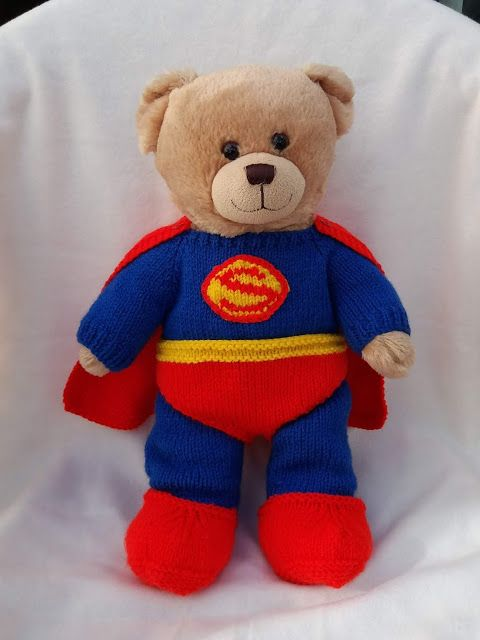 05df822e Free knitting pattern for Teddy Bear Superhero Outfits | build a ...