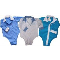 Niebieskie, turkusowe, biało-niebieskie koszule dla chłopców. Bodo-koszule u Grusi- http:grusia.com.pl
