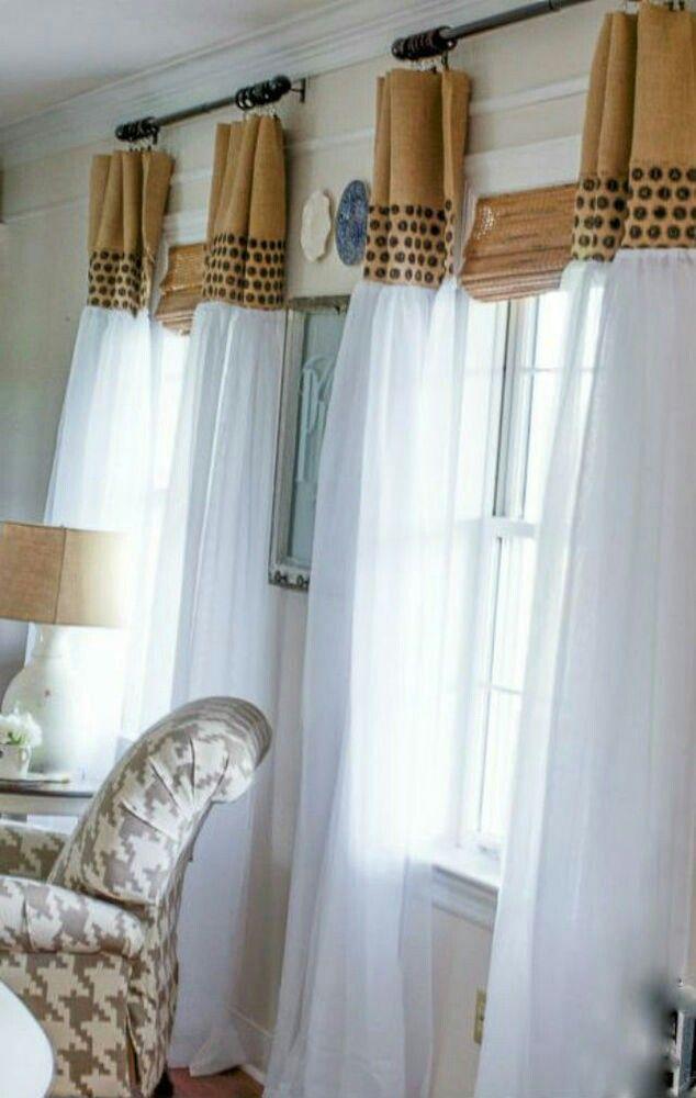 Белый тюль присборен, вогруг окна наличники