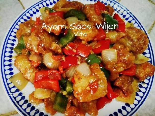 Resep Ayam Tepung Saos Wijen Oleh Vita Jaurina Resep Resep Ayam Babi Asam Manis Masakan