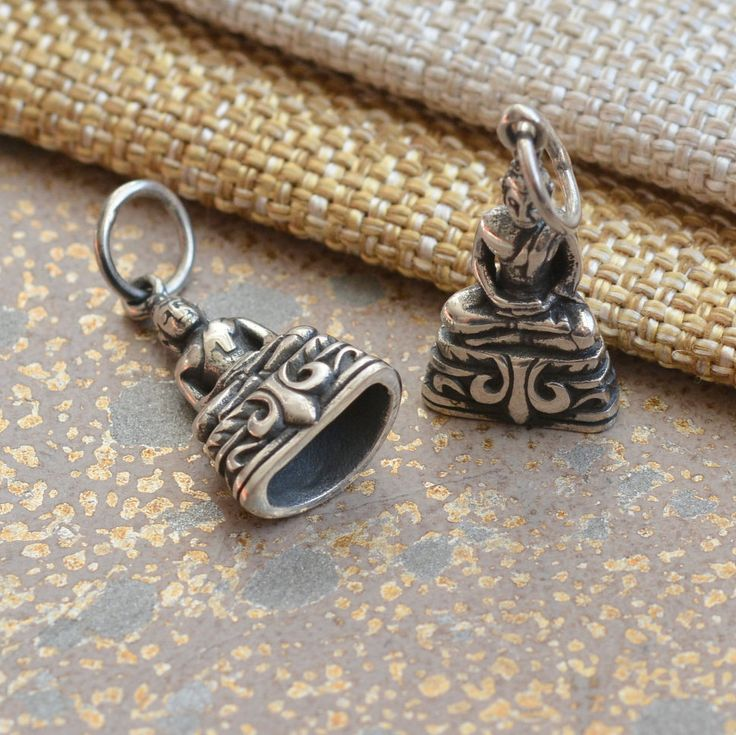 Sterling Silver Thai Meditation Buddha Amulet Charm, Thai Buddha Charm, Buddhist Charms, Buddhist Amulets, Silver Charms, One, BS17-0121D by WanderlustWorldArts on Etsy
