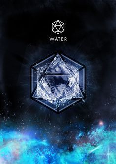 Water Element and it's Sacred Geometric Symbol ~ Icosahedron 20 Faces Equilateral Triangles