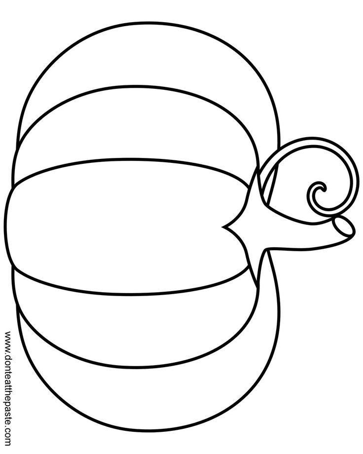 A Simple Pumpkin Coloring Page In Jpg And Transparent PNG Format Could Use As An Applique On Table Runner