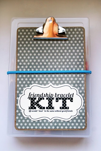 """SO cute!  A """"Welcome to Summer"""" gift for tweens!!  (from tatertotsandjello.com)"""