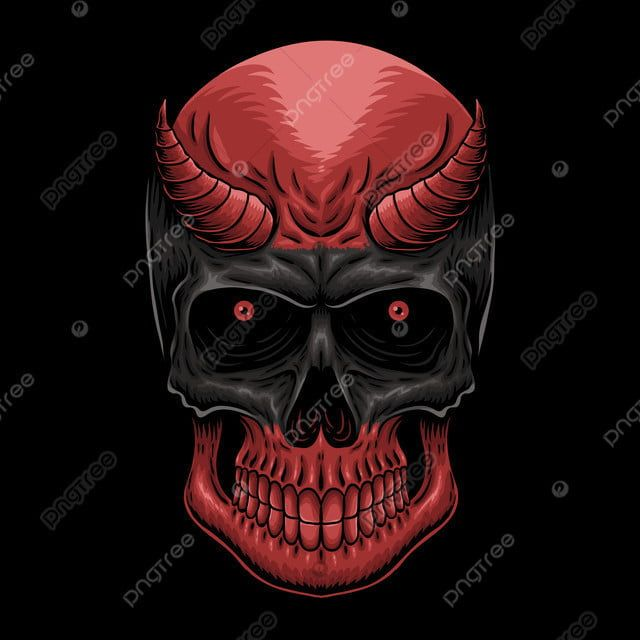 Head Demon Skull Vector Illustration Skull Clipart Aggression Anatomy Png And Vector With Transparent Background For Free Download