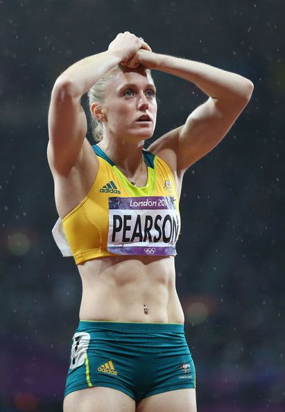 Sally Pearson of Australia just before learning she won the 100m Hurdles - London 2012