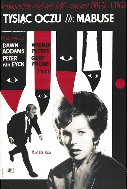 Die 1000 Augen des Dr Mabuse, 1960 aka Thousand Eyes of Dr Mabuse  Polish Title: Tysiac oczu dr. Mabuse Author: Marian Stachurski, 1963