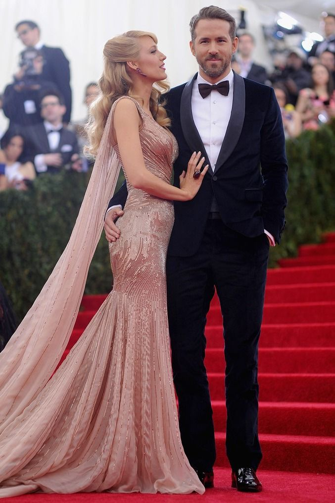 Blake Lively and Ryan Reynolds at the 2014 Met Gala.
