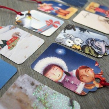 Make gift tags with recycled cards. Smart!
