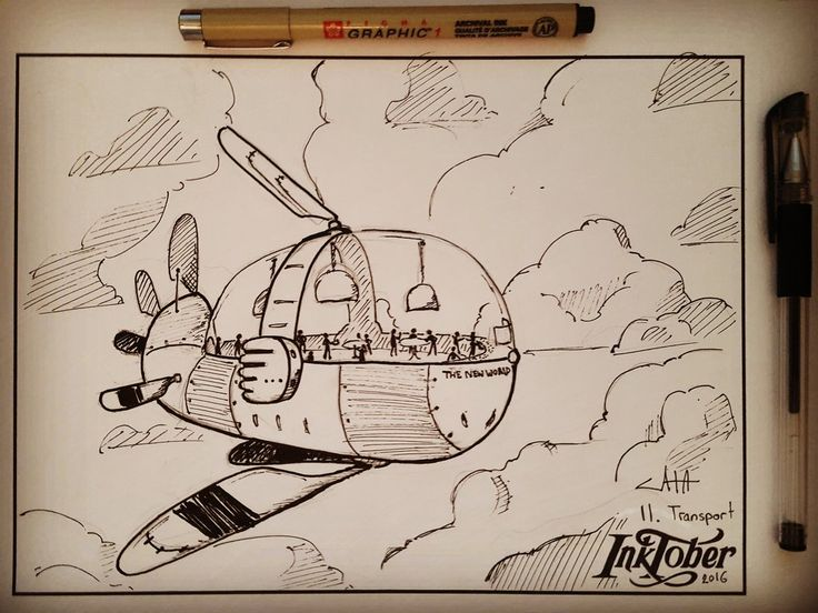 #inktober Day 11: Transport, by CatasCreations on DeviantArt