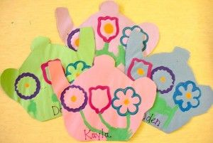 Placemats and Letters to Mom: More Projects for our Tea Party - Kinder Craze
