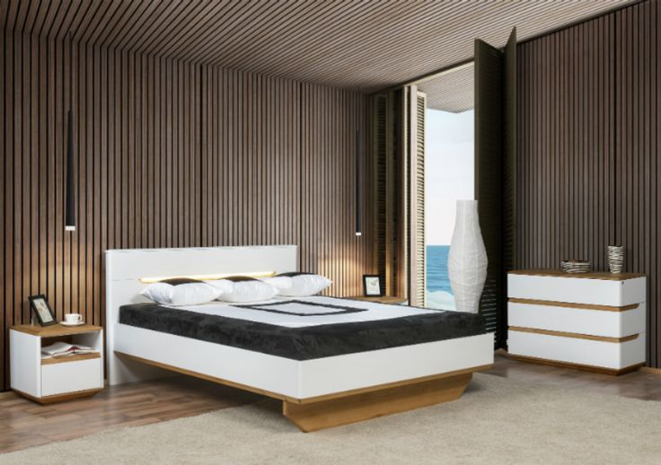 Wood, natural materials  would make your bedroom more cosy. #bedroom #KloseFurniture #interiorideas #woodenfurniture