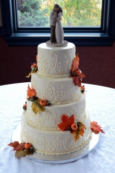 wedding ideas for fall pinterest fall theme wedding by jackofallcakes on cakecentral 27911