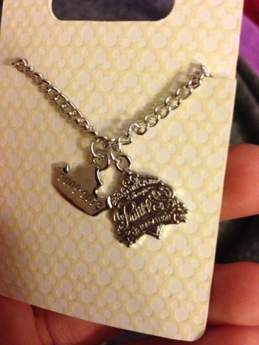 Run Disney Princess Half Marathon 5th Fifth Anniversary Tiara Necklace Official