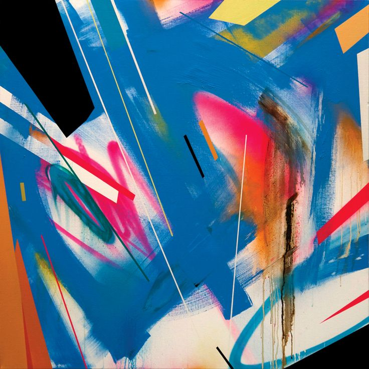 When colour changes direction - 2012  Mixed media on canvas   100cm x 100cm