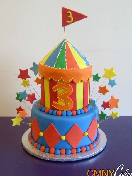 The middle layer of this one: Carnival Cakes, Carnivals Candy, Cakes Ideas, Jayson Candy, Colors Candy, Birthday Parties, Carnivals Birthday Cakes, Carnivals Parties, Carnivals Cakes