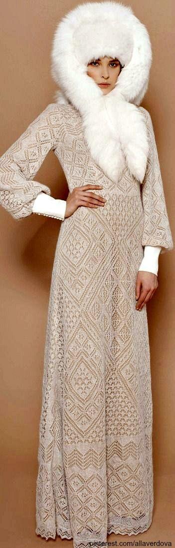 A LA RUSSE Anastasia Romantsova ~ pre-fall 2013 ~ Orenburg down dress