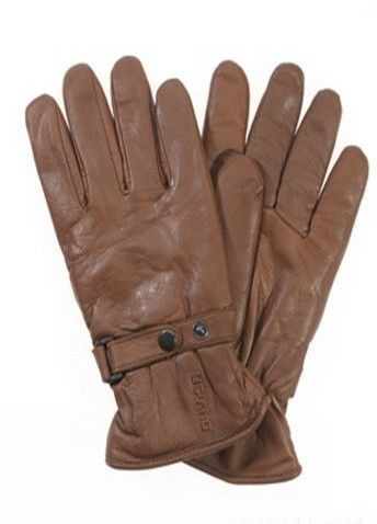 """DAVIDA gloves """"Shorty"""" with very soft nut-brown leather. For men or women availbale."""