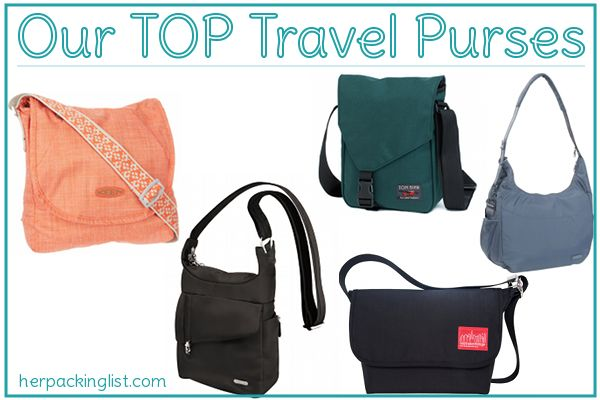 Top Travel Purses and tips on what you should always carry in your purse when travelling!
