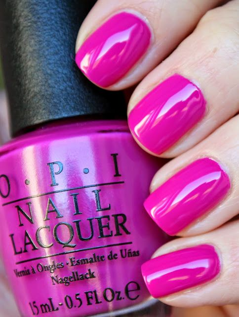 OPI The Berry Thought Of You - great for a pop of color   red toned purple that leans towards pink with a crelly finish   #nail polish / lacquer
