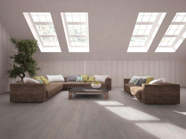 Bamboevloer met verouderd uiterlijk. Prachtig in een eigentijds, modern interieur. Topbamboe vloer Antiek White van MOSO #bamboe #vloeren #bamboevloeren #moso