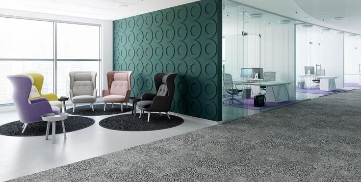 Kusové koberce RugXstyle a kobercové čtverce Freestile v kanceláři. / RugXstyle and Freestile carpet tiles in the office.  http://www.bocapraha.cz/cs/aktualita/75/kusove-koberce-do-kancelari-a-dalsich-komercnich-prostor/