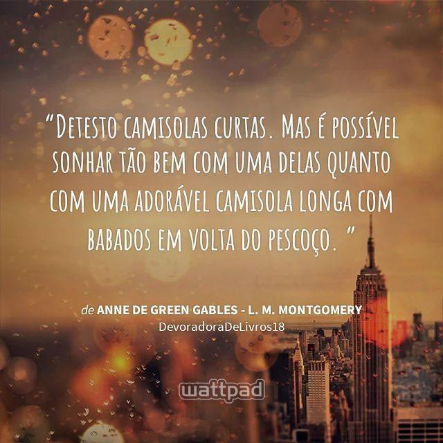 Anne De Green Gables Portugues Quote Serie Livro Netflix