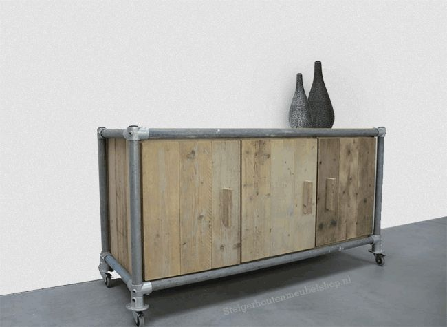 176 best images about Pipe Furniture on Pinterest  Oak sideboard
