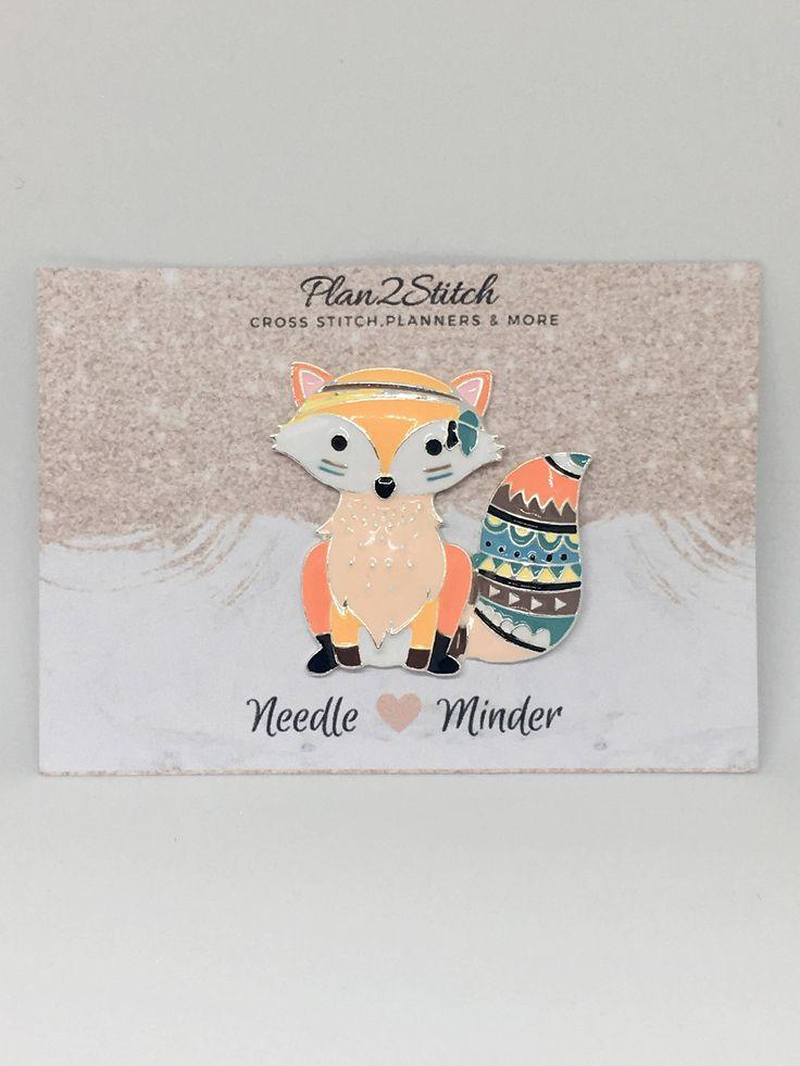 Freddy the Fox Needle Minder by Plan2Stitch on Etsy