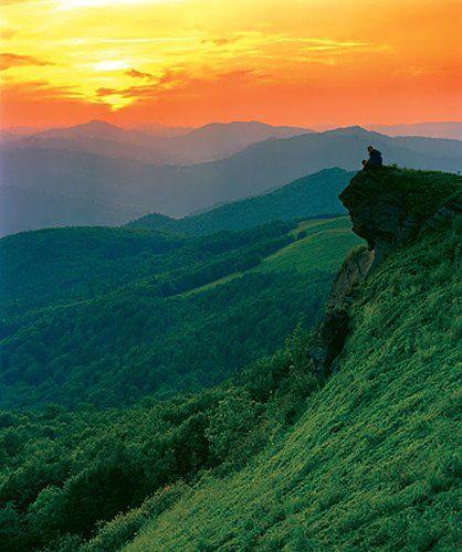 The Green Man Hill, Bieszczady Mountains, Poland