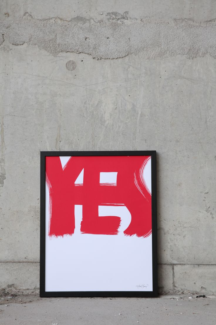 """YES""  Print: Ylva Skarp Photo: Susanne Kings"